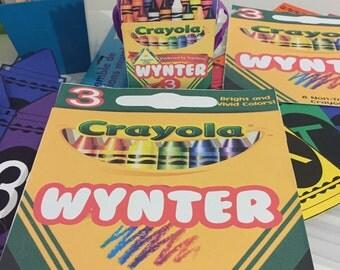 Crayola Crayon Personalized Pop Corn Box decorations