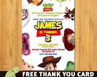 Toy Story Invitation  - Disney Toy Story Birthday  Invitation Party