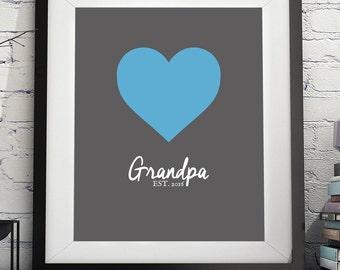Grandpa Art Print, Grandpa Gift, Gifts for Grandpa, Grandpa to Be, New Grandpa, Grandfather Gift, Pregnancy Reveal Grandparents, Annoucement