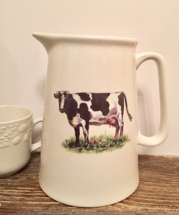 Grace S Teaware Black And White Cow Pitcher Kitchen Decor Home Decor Farm Animal