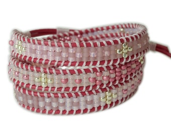 Triple Wrap Beaded Bracelet