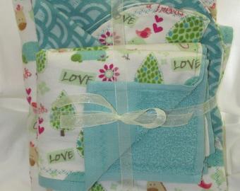 Warm Cozy Flannel Baby Blanket Gift Set