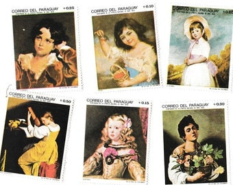 Vintage 1968 Art Stamps