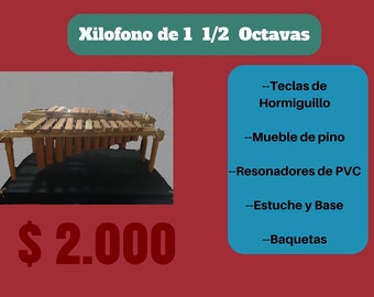 1 1/2 octaves xylophone