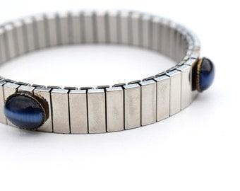 Watchband Bracelet Midnight Blue Cobalt Glass