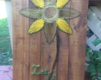 Pallet Sunflower string art (Let it Grow)