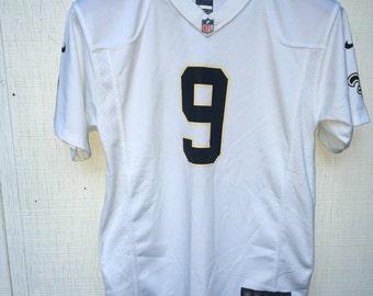 Drew Brees Saints on field jersey