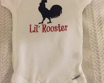 Lil' rooster baby onesie - short or long sleeve