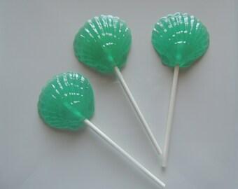 Clam Shell Lollipops Beach Sea Ocean Wedding Nautical Wedding Party 8  Favors