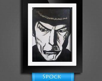 Portrait Spock ink