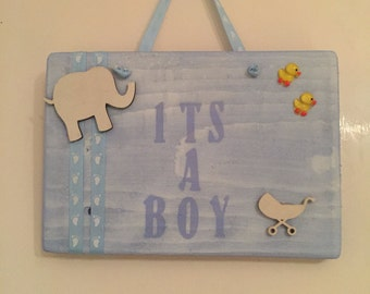 Its a Boy plaque