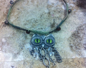Owl Hemp Necklace