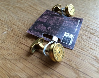 bullet vintage steampunk hand made retro bullet cufflinks, great gift bullet cufflink, gift for hunters and military persons