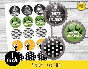 50% OFF SALE Halloween bottle cap-Halloween BottleCap-1 inch Bottlecap-Halloween bottleacap-Halloween 1 inch-COD72