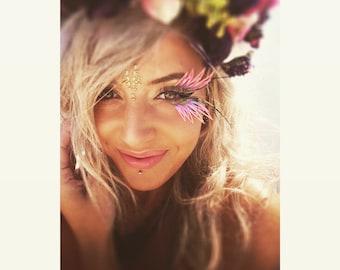 Festival eye lashes! face gems, Halloween, Burning man, mermaid, embelishments