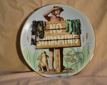 "Autographed (1993) Emmett Kelly, Jr -Flambro ""Summer"" Plate"