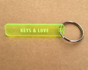 Key trend fluo yellow plexi - Keys & Love - original gift