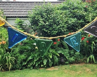 Fused glass bunting