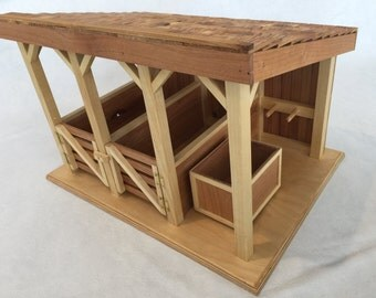 Wooden Toy Stable Barn