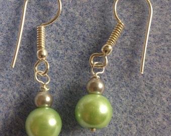 Silver plated earrings to match the spearmint bracelet