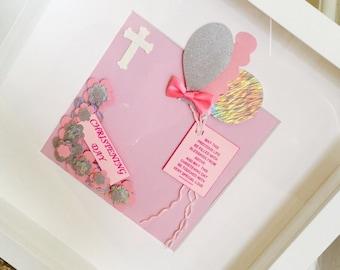 Christening gift hand made frame