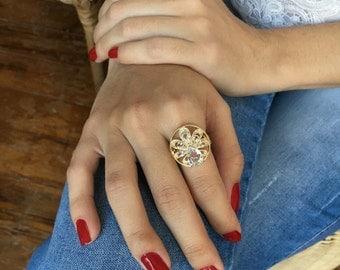 Gold Ring, Diamond Ring, Delicate Gold Ring, Delicate Ring, Dainty Gold Ring, Dainty Jewellery, Cubic Zirconia Ring, Zircon Ring