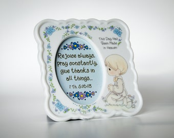 Precious Moments Photo Frame - 1994 VINTAGE Enesco praying picture frame