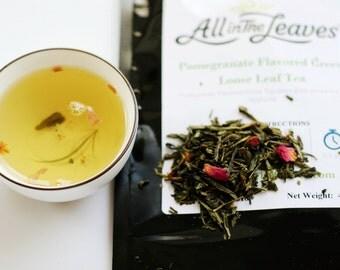 Pomegranate Flavored Green Loose Leaf Tea