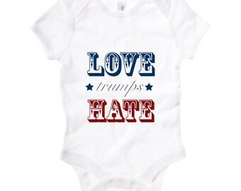 LOVE trumps Hate   Onesies and Kids Tees