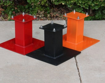 Trailer jack stand support