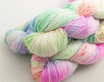 Reef on Catwalk, lace weight handdyed yarn, indie, indiedyed, 17.5 micron merino, silk