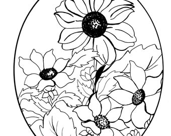"""Coloring page #3 - from - """"My Mother's Coloring Book"""""""