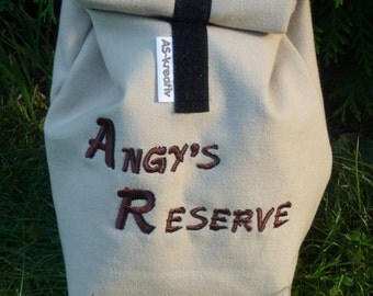 Cooler Lunchbag size 4, embroidered, Vesper bags, snack bags, breakfast bag, can be customized