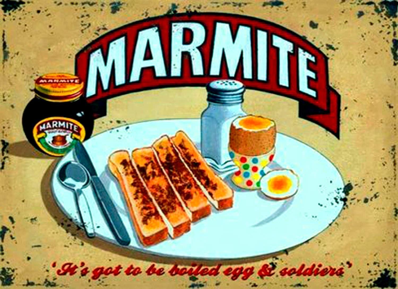 Marmite metal sign vintage retro shabby chic wall plaque for Plaque metal cuisine