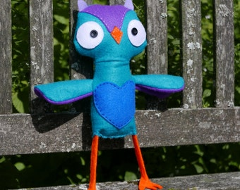 Wise Owl - Authentic Handmade Scottish Felt Plush Toy