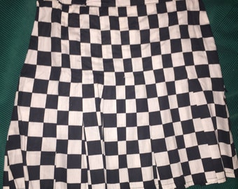 Checkered tennis skirt