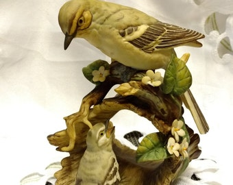 HOMCO Masterpiece Porcelain Collection – Mocking Bird w/Baby