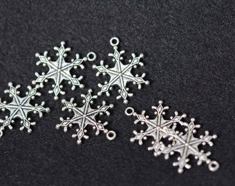 Pewter Snowflake Charms