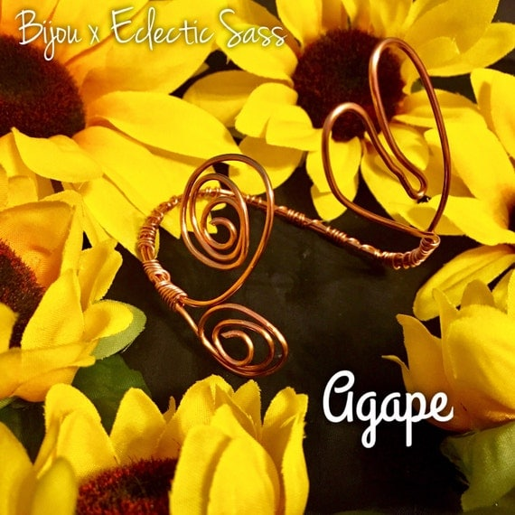AGAPE- Adjustable Copper Wire Heart Bracelet