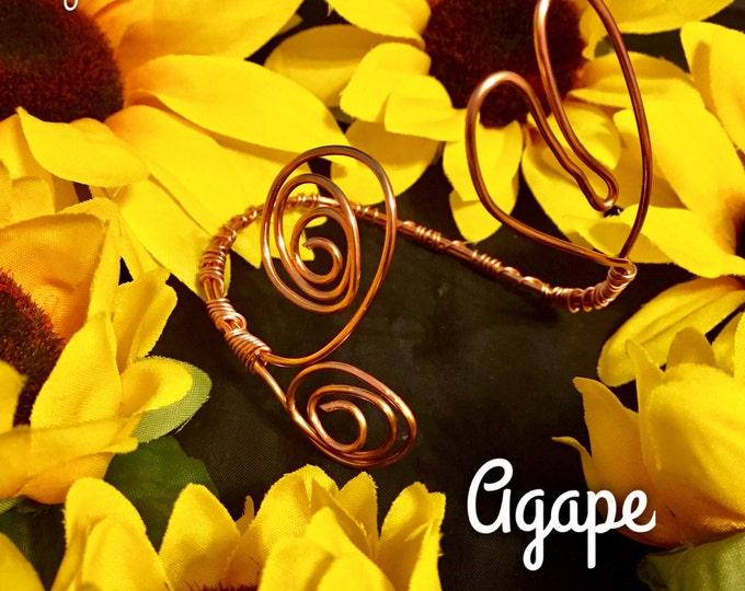 AGAPE- Adjustable Copper Wire Heart Bracelet