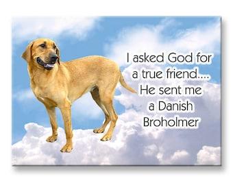 Danish Broholmer True Friend Fridge Magnet