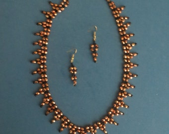 Handmade Necklace & Earring Set - Item #6-040