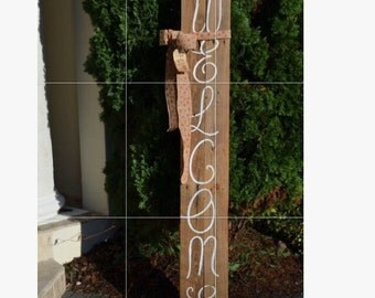 Antique barn wood Welcome sign