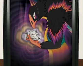 Satanic Party Bird Print