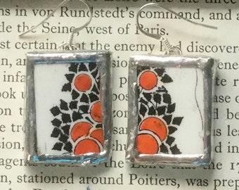 Orange Tree earrings