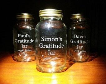 Bespoke Hand Engraved Gratitude Jar Kit
