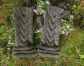 Pattern Morning Dew Fingerless Gloves