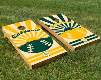 Oakland Athletics Cornhole Board Set