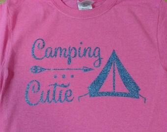 Girls camping cutie shirt