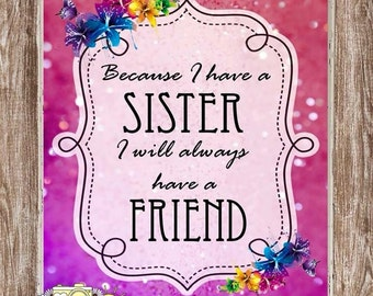 Sister Quote Print A4